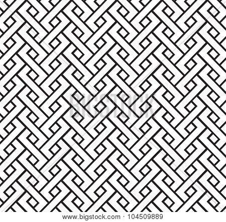 geometric pigtail pattern