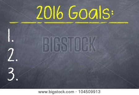 2016 Goals