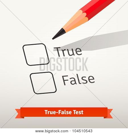 True false test or survey