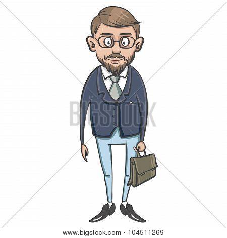 Business man cartoon character.