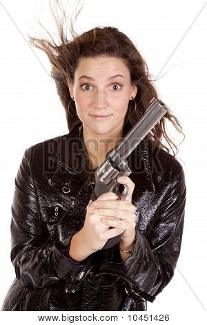 Woman Very Happy With Gun