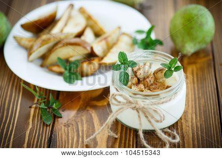 Yogurt With Roasted Pears