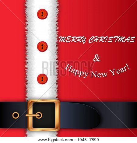 Red Santa Claus suit,