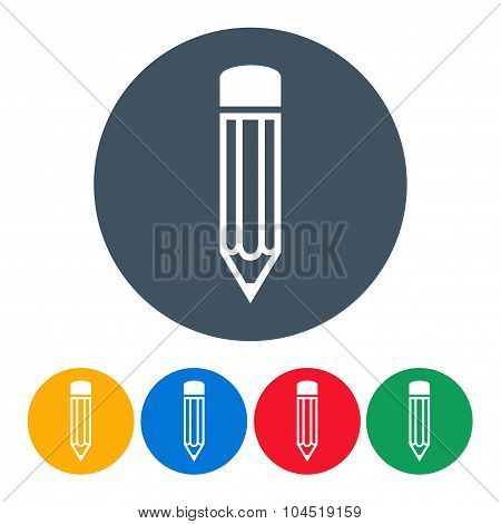 Set Pencils Icons On The White Background. Stock Vector Illustration Eps10
