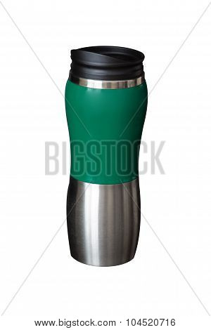 Thermos Mug Isolated On White