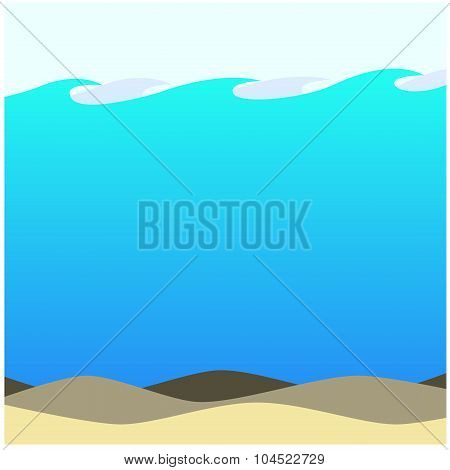 Shallow Waters Beach Background Ecosystem Artwork