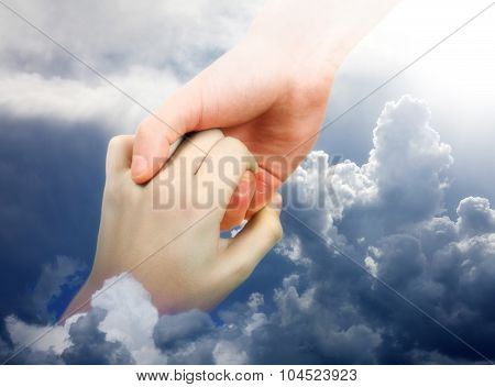 Helping Hand In The Clouds