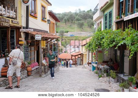 Old Bar, Montenegro, September, 21, 2015: Small streets of Old Bar - one of tourist sights of Montenegro