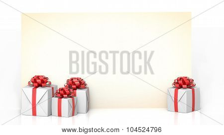 greeting card with gifts
