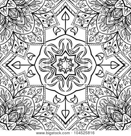 East Ornament Of Floral Mandalas.