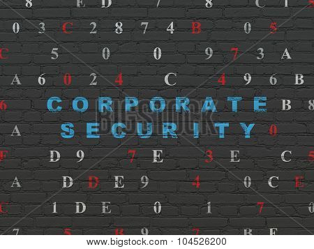 Safety concept: Corporate Security on wall background