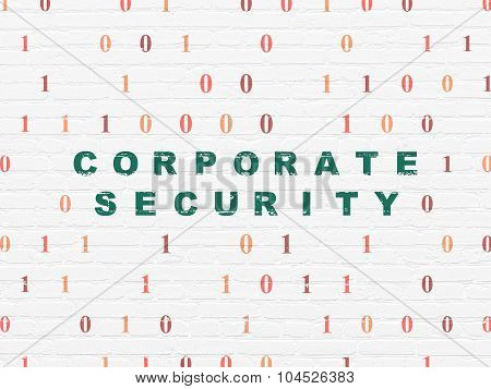 Protection concept: Corporate Security on wall background