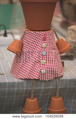 potsherd doll, creative DIY work