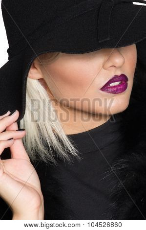 Sensuous Chic Blond Woman In Black