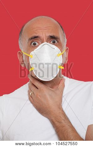 Man wearing a mask protection