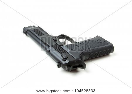 Isolated gun on white background