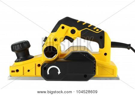 Power Planer On A White Background