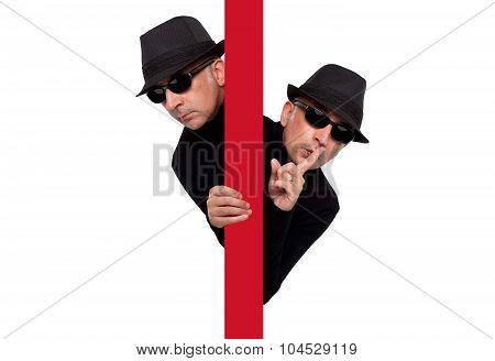 Man criminal expressive spy