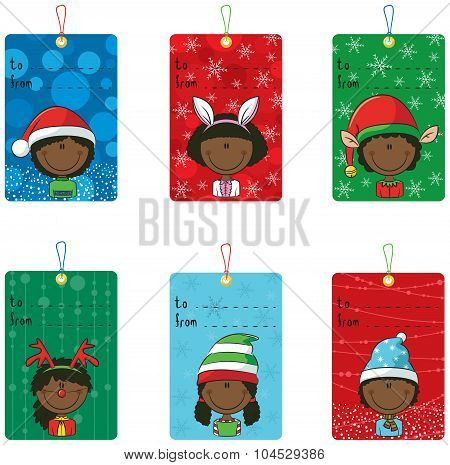Christmas Tags With Funny Kids