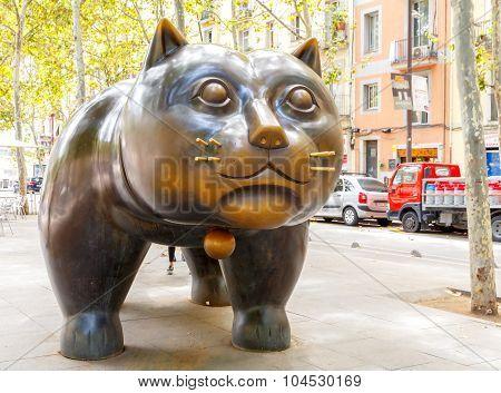 Barcelona. Cat on the Boulevard Raval.