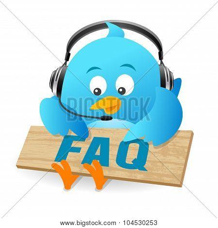 Blue Bird FAQ Sign