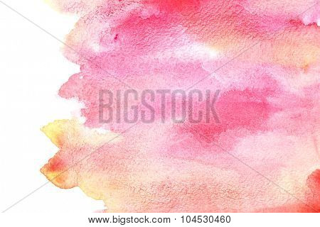 Colourful watercolor brush strokes - abstract background with space for your own text