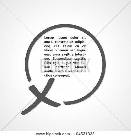 Cross Symbol And Circle