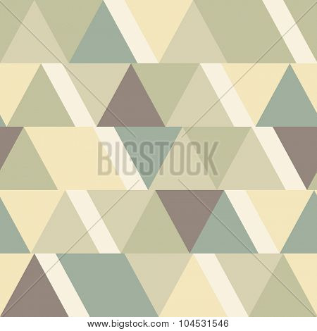 Seamless triangular vintage background
