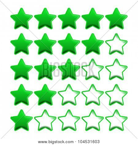Green rating stars