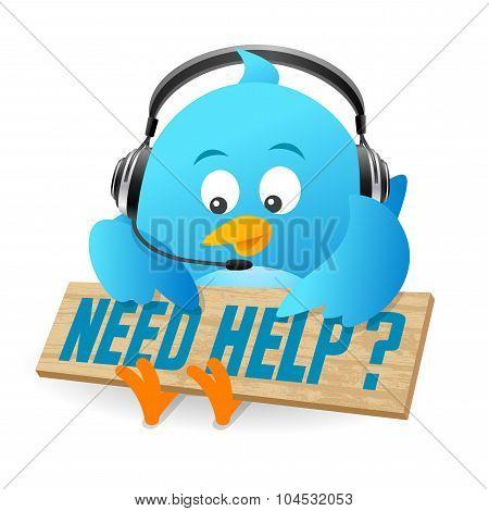 Blue Bird Need Help Sign