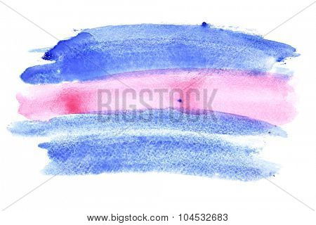 Blue - pink watercolor background - space for your own text