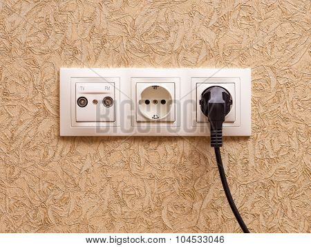 Socket on the wall