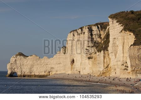Beach Of Etretat, Cote D'albatre, Pays De Caux, Seine-maritime Department, Upper Normandy Region, Fr