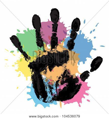 handprint and blots