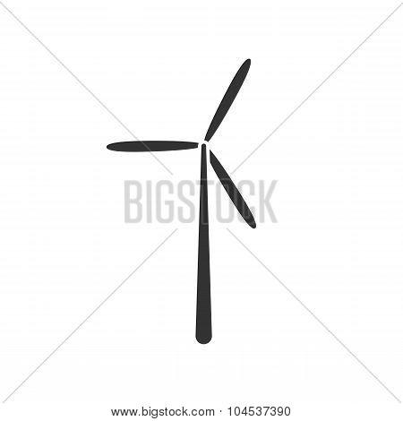 Vector icon wind turbine