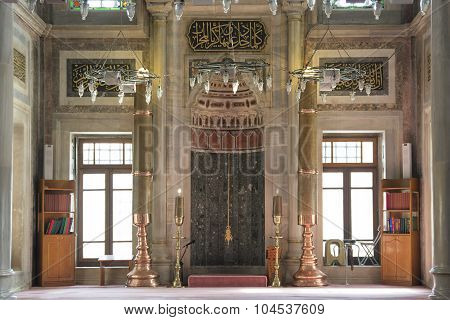 Interior Detail From Laleli Mosque, Istanbul, Turkey