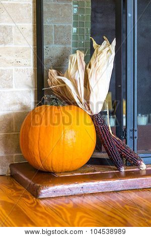 Pumpkin on the hearth