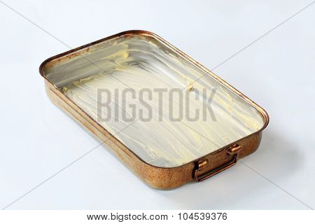 baking pan greased with butter