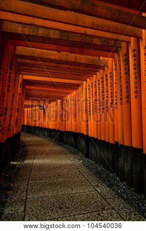 Torii Gates At Fushimi Inari Shrine
