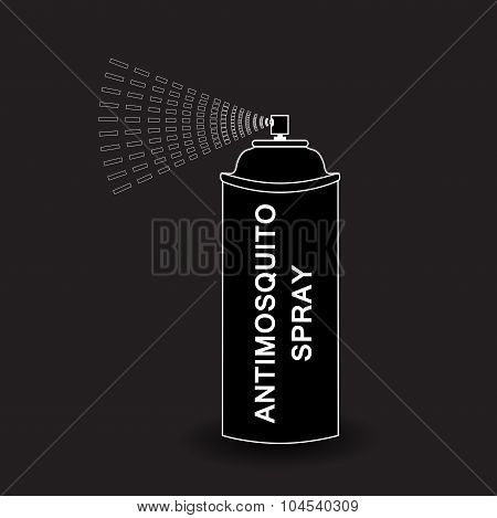 Vector  Aerosol Spray. spray isolated on black background. Vector