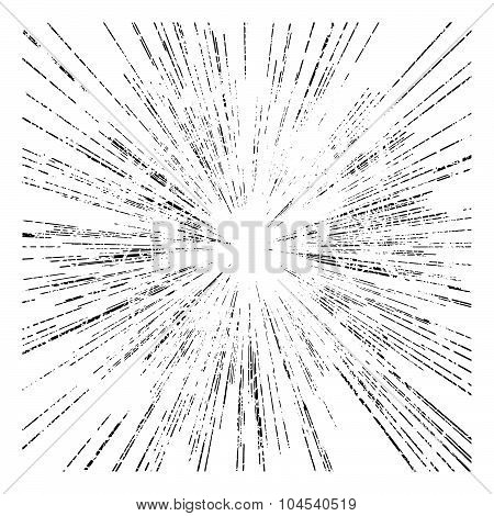 Illustration Vector Abstract Radial Speed Motion Black Lines ,star Burst Background, Grunge Stamp St