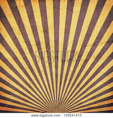 Sunburst Retro Background And Duplicate Old Paper Texture