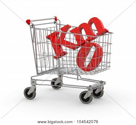 Shopping Cart Full Of Zero Kilometers Symbol