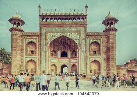 Gateway to Taj Mahal, Agra, India