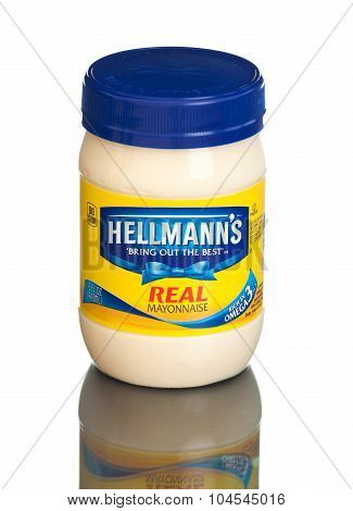 MIAMI, USA - February 9, 2015: America's #1 Mayonnaise is made with real, simple ingredients.