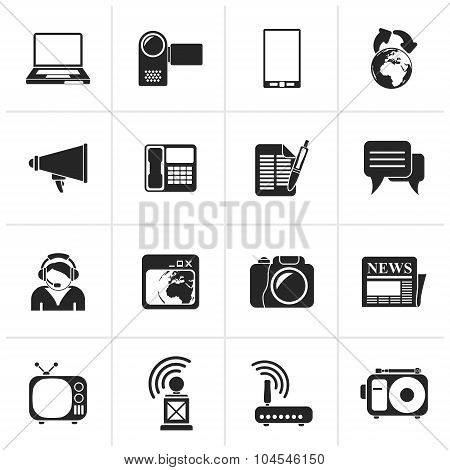 Black Communication and Technology icons