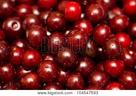Background of many cherry berries