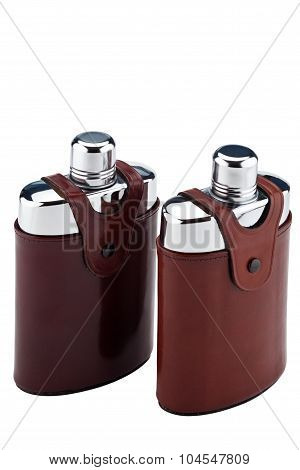 A pair of flasks