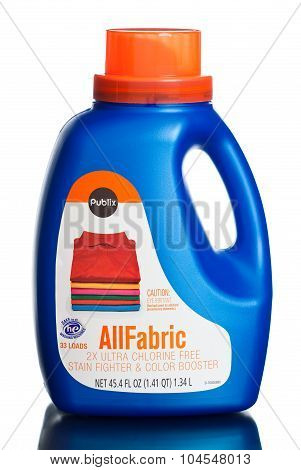 MIAMI, USA - February 19, 2015: Publix brand. All fabric chlorine free stain fighter and color boost