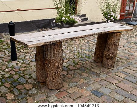 Simple Rustic Wooden Table